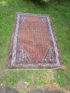 Old Or Antique Oriental Rug Carpet Persian