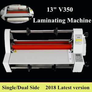 13 Laminator Hot Double Side Roll Laminating Machine 110v 4 Rollers