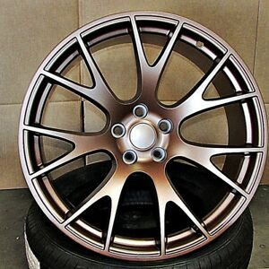 20 Staggered Hellcat Wheels For Chrysler 300 C Dodge Charger Challenger 5x115