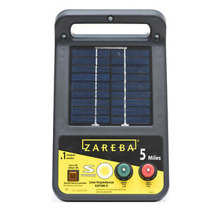 5 mile Solar Low Impedance Electric Fence Charger For Steel Aluminum Poly Wire