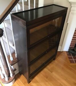 Antique Globe Wernicke 3 Stack 5 Piece Barrister Bookcase Excellent Condition