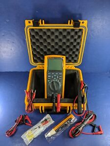 New Fluke 287 Industrial Electronic Logging Multimeter Hard Case More