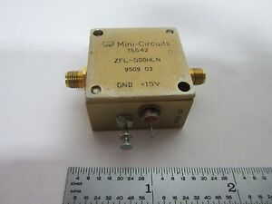 Mini Circuits Rf Amplifier Frequency Zfl 500hln Bin k1 12