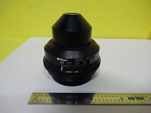 Microscope Part Nikon Substage Condenser Abbe Iris Optics As Is Bin w9 59
