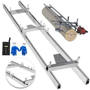 Chainsaw rail Mill Guide System 5ft 1 5m 2 Reinforce Log Wood Forest Instruction
