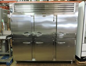 Traulsen Rht332wut hhs Commercial 3 section 1 2 Door Reach in Refrigerator