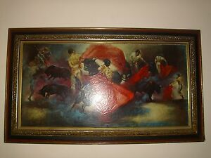 Antique Vtg Large Victorian Picture Frame Wood With Gesso 4 Level 59 X 33