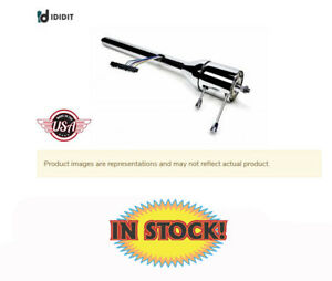 Ididit 1120300020 Universal 30 Tilt Floor Shift Steering Column Chrome Finish