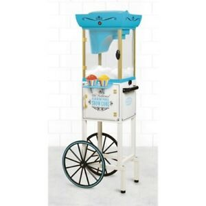 Vintage Commercial Snow Cone Cart Machine Maker Ice Yogurt Stand Carnival Retro