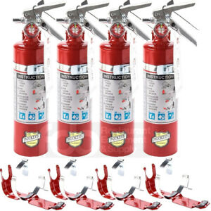 4x 2 5 Lb Fire Extinguisher Abc Dry Chemical Rechargeable Dot Vehicle Bracket Ul
