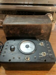 Vintage Western Electric M 9 B Ohms Amperes Volts Meter With Leather Case
