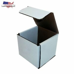 Moving Box Mailers Packaging Shipping Small Fragile Corrugated 4x4x4 in 50 pack