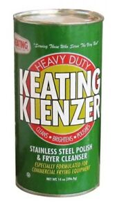 Keating Klenzer 8 pack Of Heavy Duty Stainless Steel Polish Fryer Cleaner