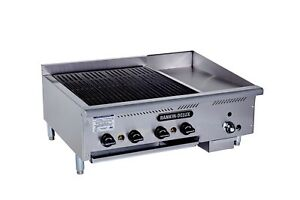Rankin delux Bg 2424 c Commercial Gas Broiler Thermo Griddle