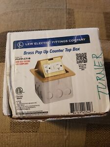 Lew Electric Pufp ct b Countertop Box Pop Up W 20a Gfi Receptacle Outlet Brass