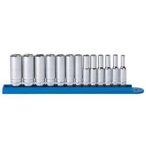 Gearwrench 13 Piece 1 4 Drive 6 Point Deep Socket Set Metric 4 To 15mm 80304