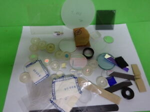 Lot Optical Lenses Prism Mirror Mil Spec Laser Optics As Is as 60