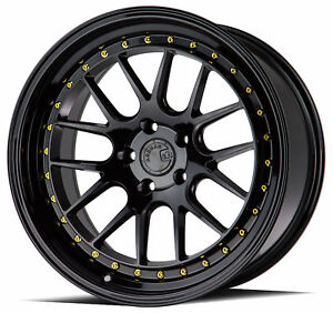 19x9 5 Aodhan Ds06 5x114 3 22 Gloss Black Rims New Set 4