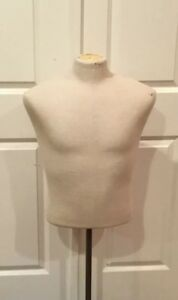 Retail Display Half Body Form Mannequin Male department Store Display w Stand