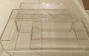 Clear Acrylic Display Stand 16 x10 x3 10 6 3 set Of Two