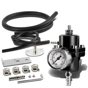 General Adjustable Fuel Pressure Regulator With 140psi Pressure Gage Oil Hose