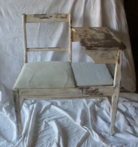 Gossip Bench Telephone Bench Shabby Chic Style Pick Up Only