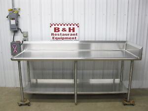 88 X 30 Stainless Steel Heavy Duty Work Table W Back Right Side Splash 7 4