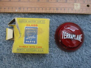 Nos 1936 Hudson Terraplane Taillight Lens Tail Lamp Light May Fit 34 35 37