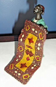 Cold Painted Vienna Bronze Persian Man With Prayer Rug