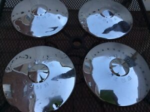 Vintage Ford 1949 1950 Dog Dish Hubcaps Wheel Cover Stamped Oem