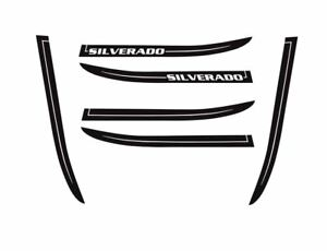 Silverado Chevy Truck Hood Decals 2016 2018 Lateral Hood Spikes Stripes 3m