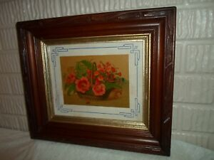 Deep Dish Or Shadow Box Picture Frame Floral Print 8 X 10 Inches 1008