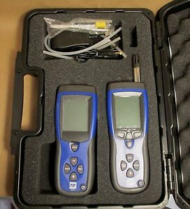 Tif3420 Combo Tif3110 Differential Pressure Meter Thermometer W Case New