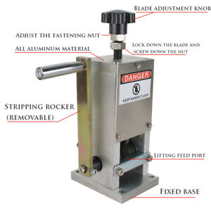 Usa Copper Wire Stripping Machine Hand Crank Drill Operated Cable Stripper Tool