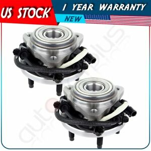 2 New Wheel Hub Bearing Front For Ford Explorer Sport Explorer Ranger 4x4 4wd