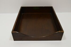 Vintage Grand Toy Wood Paper Tray File Desk Letter Box Office Organizer