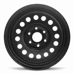 Set Of 4 Wheels Replacement 17 Inch Steel Rim Black 07 19 Chevrolet Tahoe