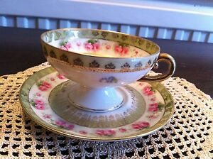 Antique Collectors Minature Cabinet Cup And Saucer In Excellent Condition