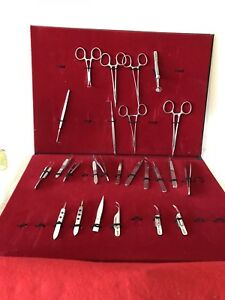 Large Set Of Dental Tools 25 Pc In Carring Case