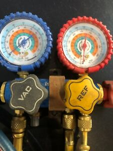 Mechanical Manifold Gauge Set Number Of Valves 2 0 To 800 Psi Gauges 644c