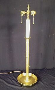Vintage Mid Century Classical Tall Brass Double Socket Candlestick Lamp