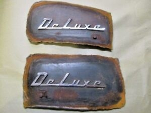 1949 1950 Chevrolet Deluxe Emblems Cutouts Wall Hanger Man Cave Rat Rod