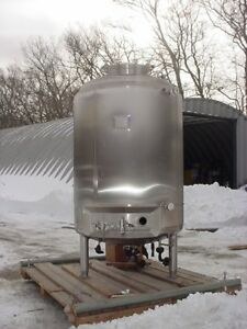 3000 Liter 792 Gallons 316l Stainless Steel Jacketed Reactor Fv 60 Psi