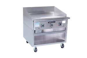 Rankin delux Rd85 48 f c ss Commercial Solid State Gas Griddle W Ss Cabinet Base