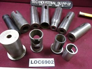 1 3 4 Smaller Lathe Tool Redcucer Sleeve Bushings Lot Of 11 Loc6902