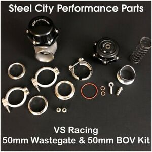 Vs Racing Vsr 50mm Wastegate Vsr 50mm Blow Off Valve Bov Complete Combo Kit