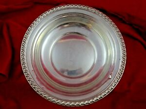 Vintage Wallace Sterling Silver Gadroon Edge Fruit Bowl