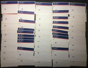 50 Usps Priority Mail Label 228 February 2006 Round Edge Bluetop Stickers Oop