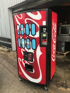 Royal Vendor Soda Pepsi Coke Vending Machine W Key Dollar Acceptor Send Offer