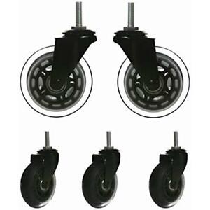 Replacement 3 Office Chair Screw Stem M8 Caster Wheels Rollerblade Heavy Duty